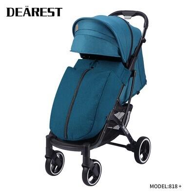 Прогулочная коляска DEAREST 818 Plus Бирюзовый с темным каркасом