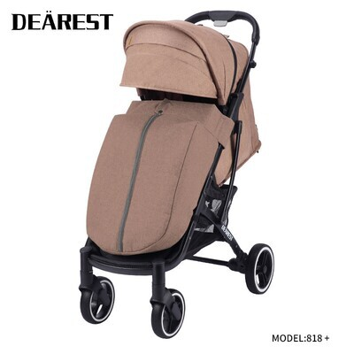 Прогулочная коляска DEAREST 818 Plus Бежевый с темным каркасом