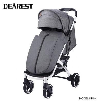 Прогулочная коляска DEAREST 818 Plus Серый со светлым каркасом