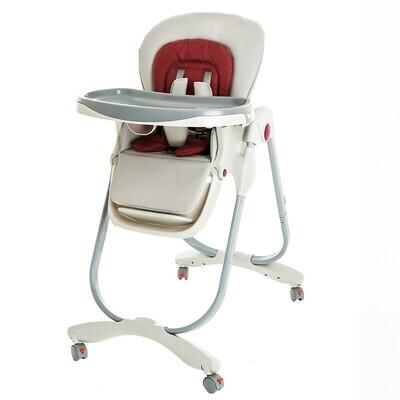 Стульчик для кормления Teknum 168, бордо/светло-серый