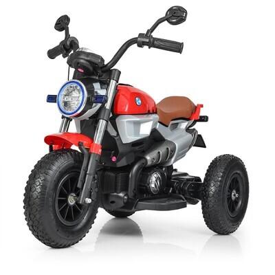Электромотоцикл детский с надувными колесами BQ-8188, красный