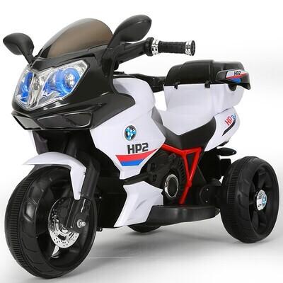 Детский электромотоцикл-трицикл HP2,черно-белый