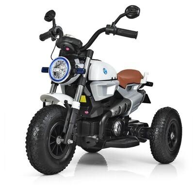 Электромотоцикл детский с надувными колесами BQ 8188, белый