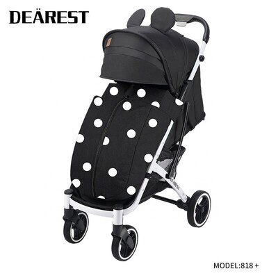 Прогулочная коляска DEAREST 818 Plus Мики Маус со светлым каркасом