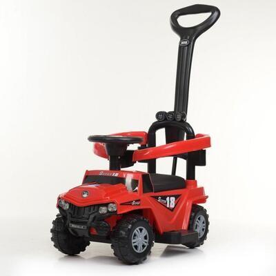 Машинка толокар Buggy с  родительской ручкой (красный)