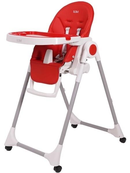Стульчик для кормления iLovi Light с колесами Red красный