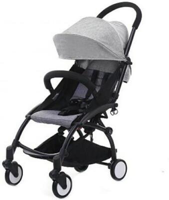 Коляска Baby Time черный-серый
