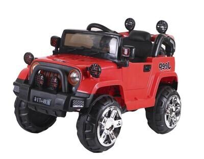 Электромобиль Jeep Wrangler FB-716 (EVA), красный