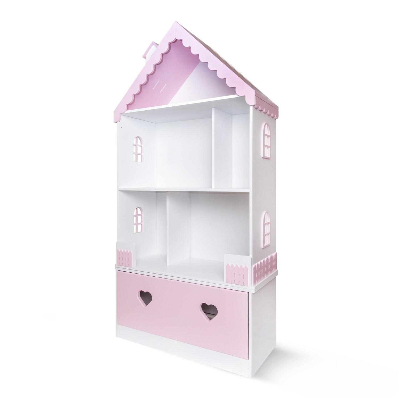 Кукольный домик Луиза (белый-розовый)