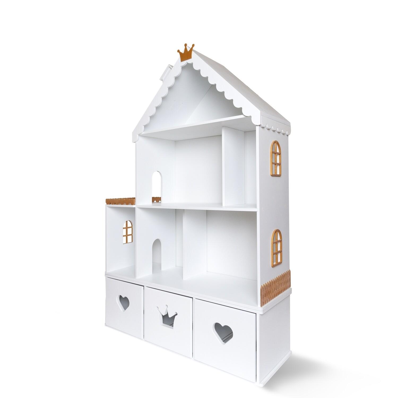 Кукольный домик Стефания (бело-золотой)