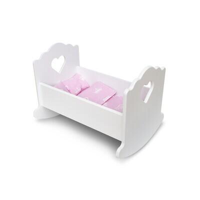 Кроватка люлька белая
