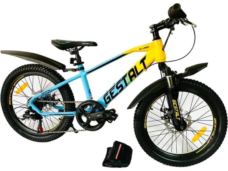 Велосипед GESTALT G202 20 2021 11 голубой-желтый