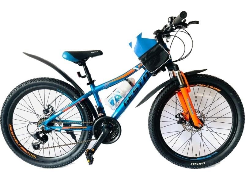 Велосипед GESTALT 1100 24 2021 21 синий-оранжевый