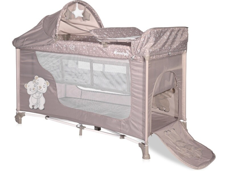 Кроватка Lorelli MOONLIGHT 2 plus rocker String HUG 2155 бежевый