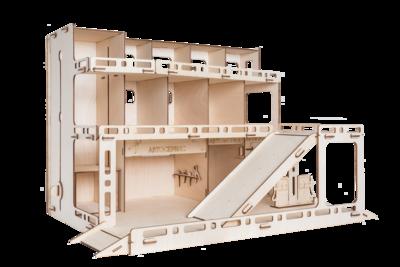 Автопарковка деревянный конструктор