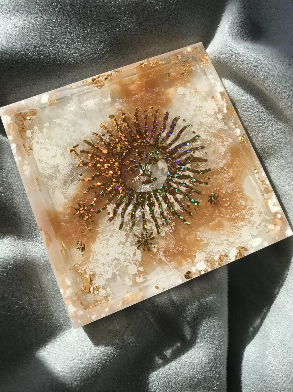 Marble Sun Trinket Dish