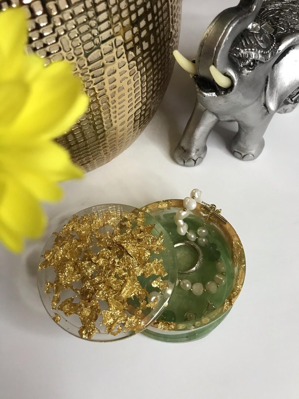 Green & Gold Trinket Box