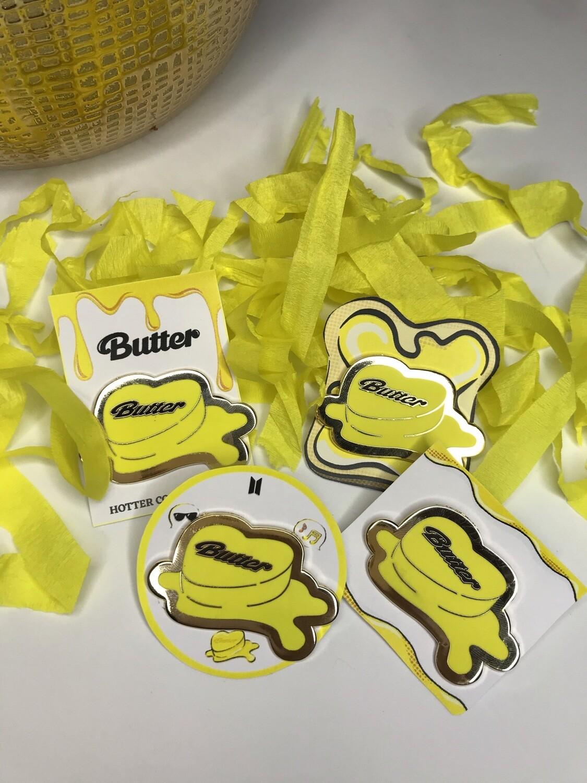 Butter Enamel Pin