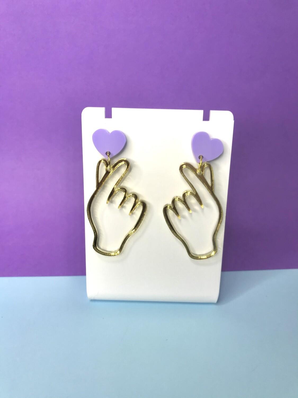 Korean Heart Earrings