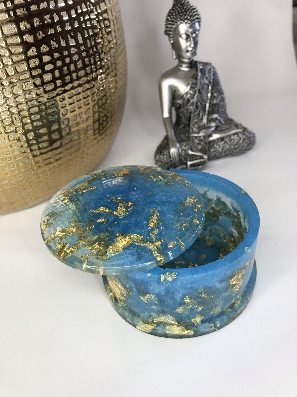 Blue and Gold Trinket Box