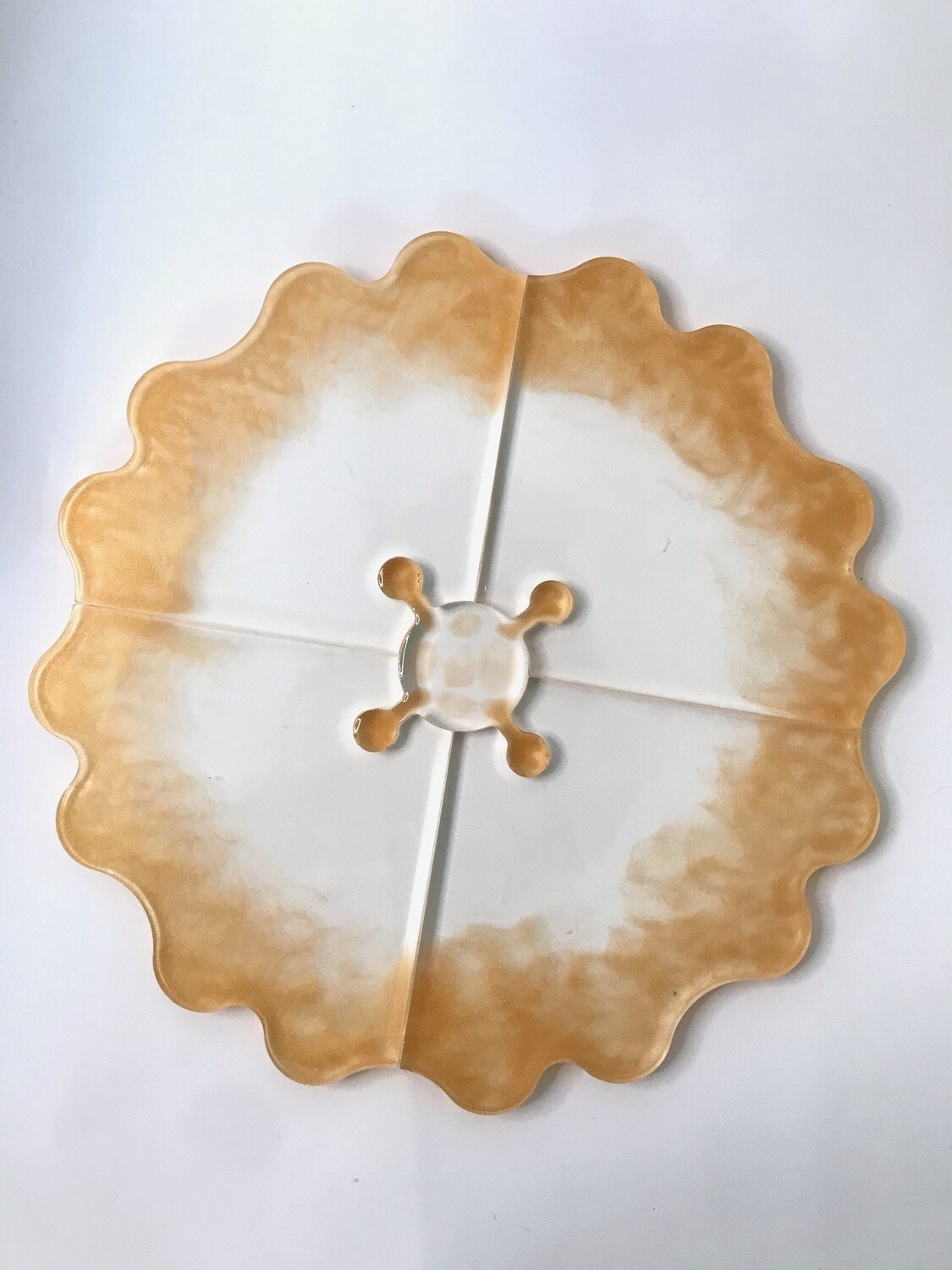 Gold and Transparent Puzzle Coaster