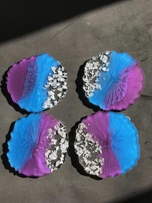 Blue & Purple Coasters