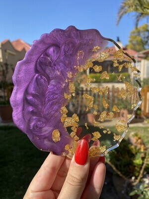 Purple and Gold Coasters