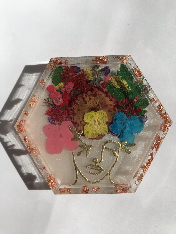 Floral Lady Trinket Dish