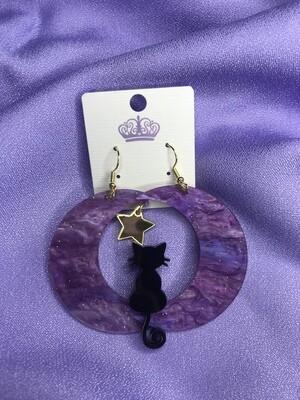 Galaxy Cat Earrings 🐈⬛🌌