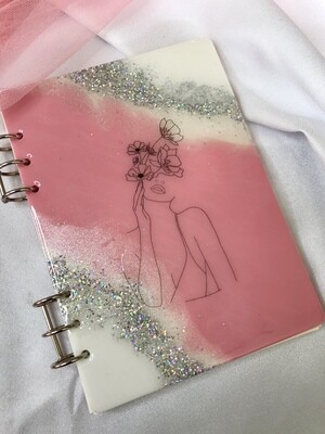 Floral Lady Notebook - 100pages