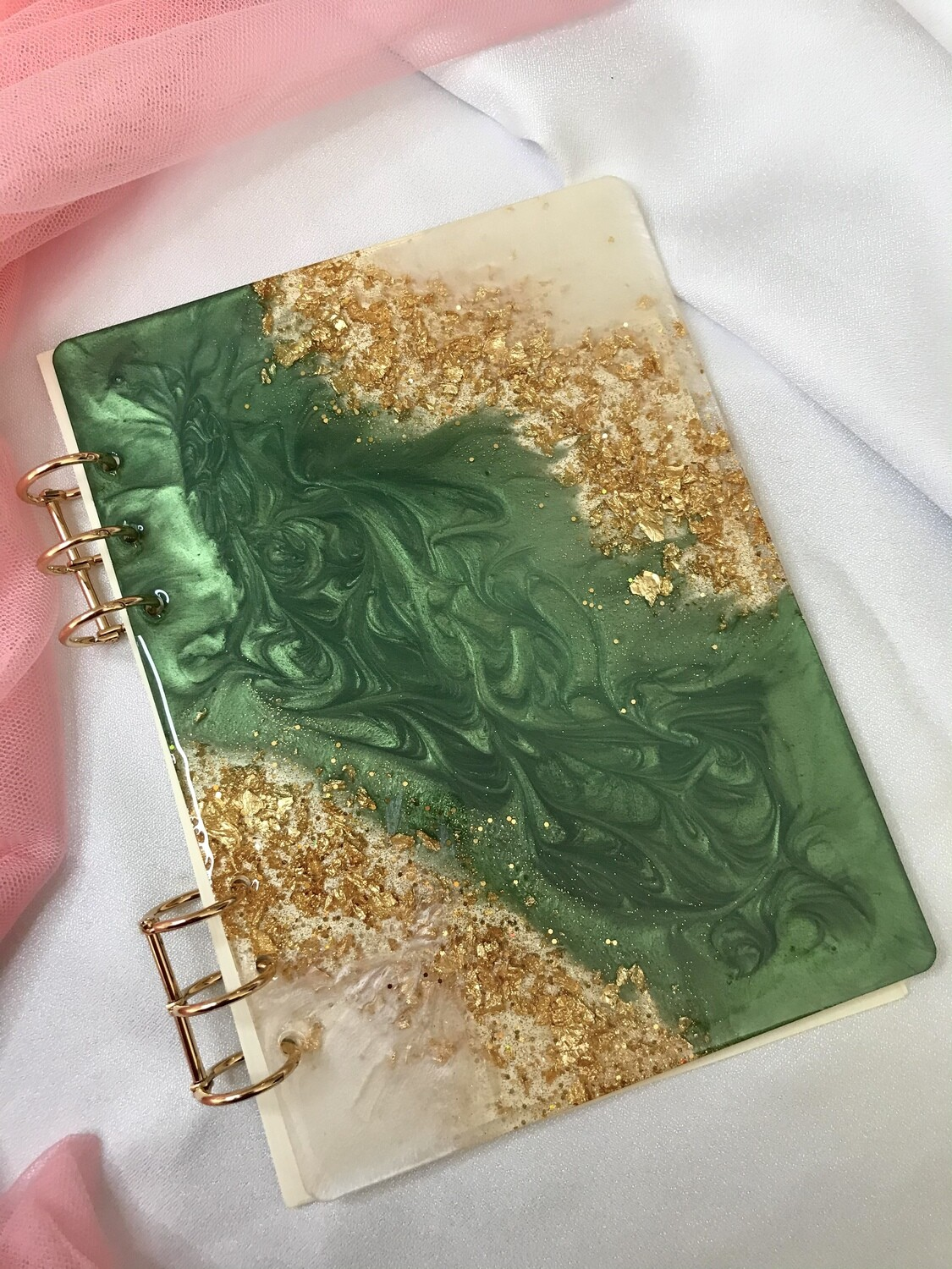 Emerald Green & Gold Notebook - 100pages