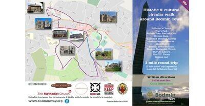 Bodmin Way Historic Circular Walk Bodmin Town plus Quiz.
