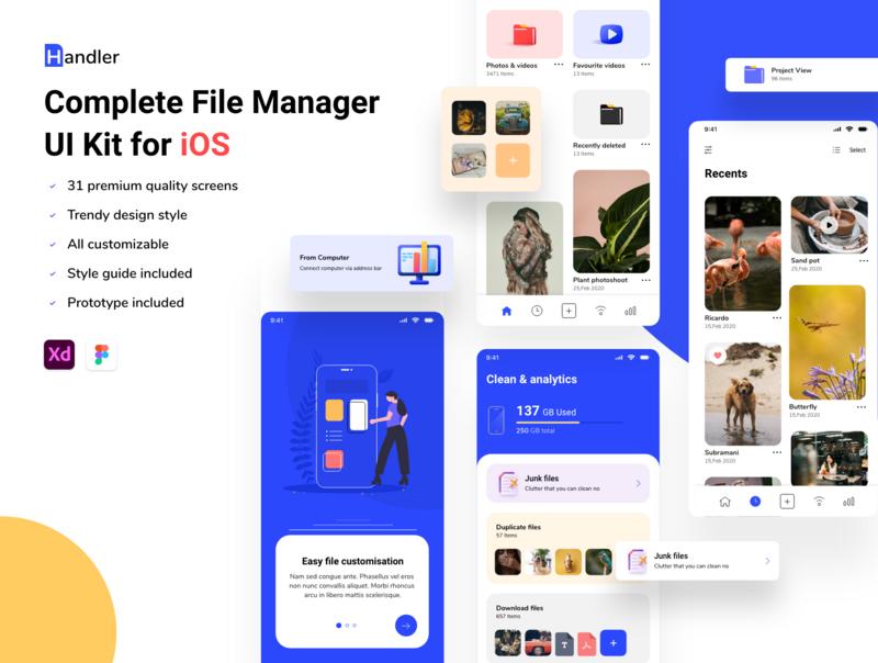 Handler - File Manage UI Kit for iOS