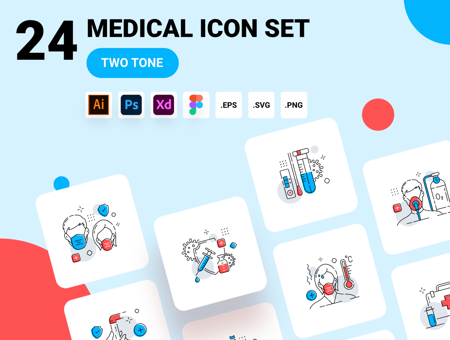 Covid and Medical icon pack
