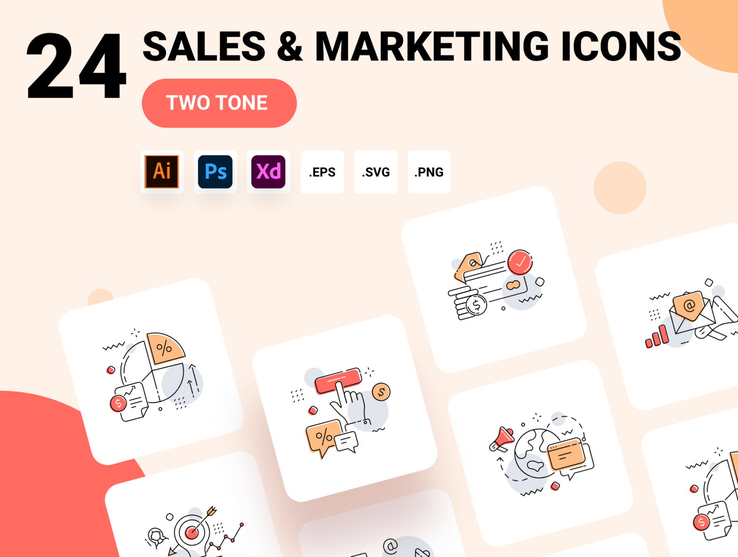 Sales and Marketing icon pack