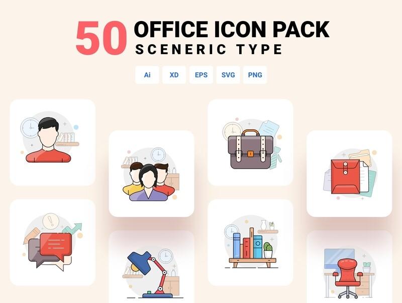 50 Office icon set