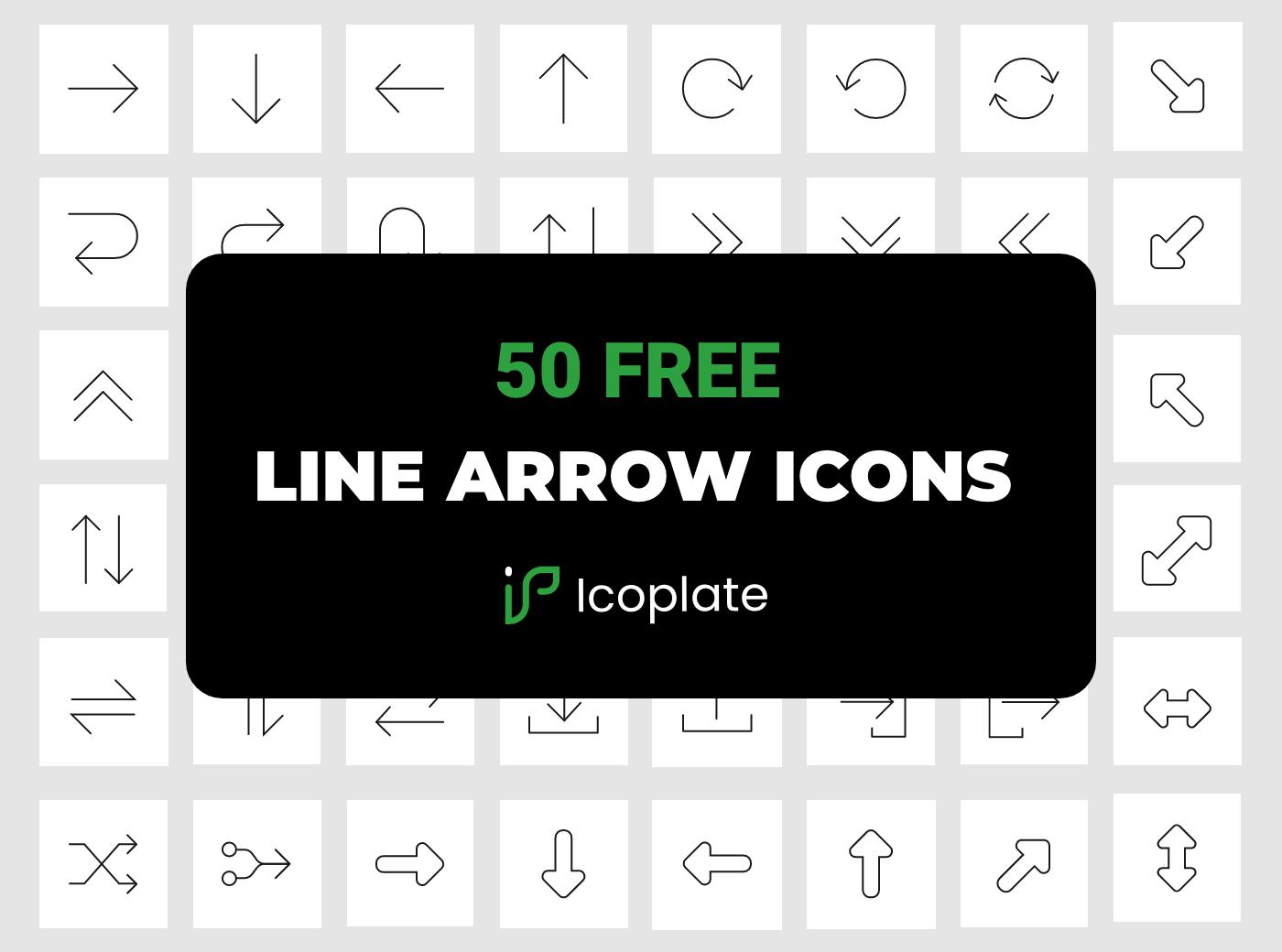 50 Free line arrow icons