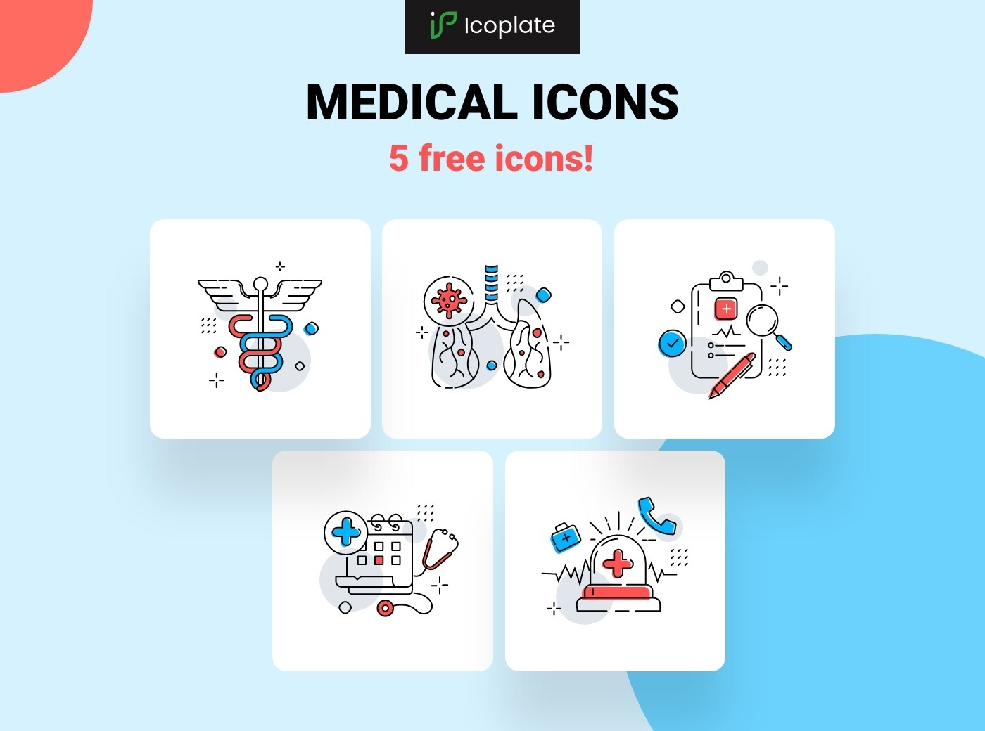 5 Free medical icons