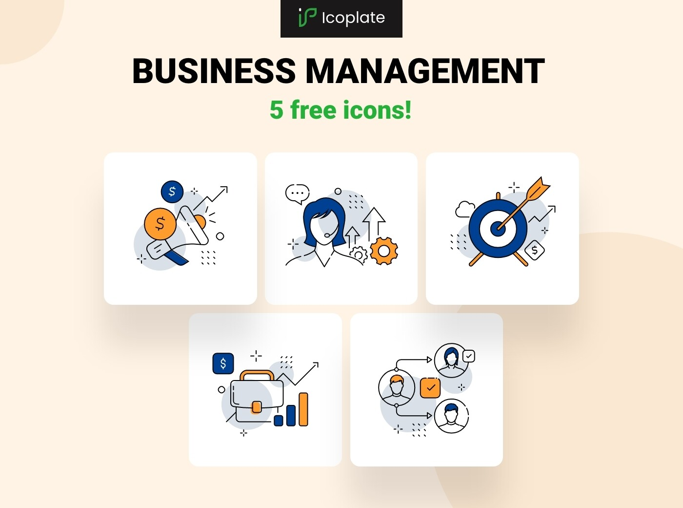 5 Free business icons