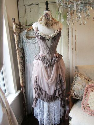Antique French mannequin dress form large home decor