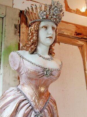 Female nautical ship wall sculpture, ethereal amazing figurehead statue