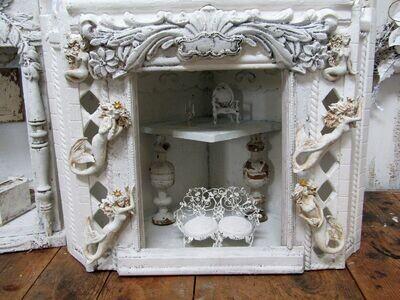 Display showcase wall or table decor corner shelf cabinet