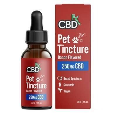 CBDfx - CBD Pet Tincture - Bacon Flavored for Small Breeds - 250mg