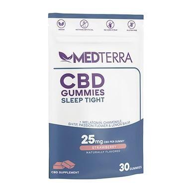Medterra - CBD Edible - Sleep Tight Strawberry Isolate Gummies - 25mg