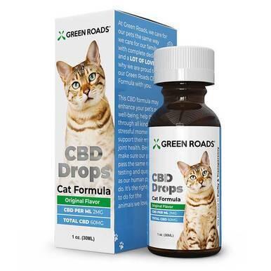 Green Roads - CBD Pet Tincture - CBD Drops Cat Formula - 60mg