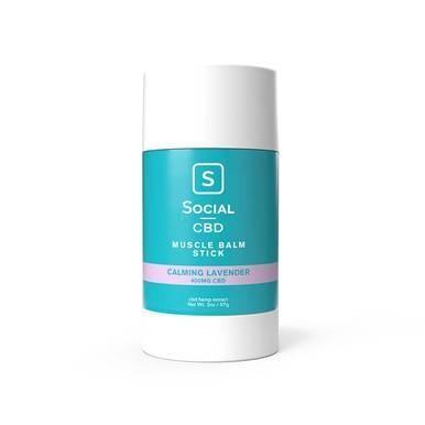 Social - CBD Topical - Calming Lavender Muscle Balm Stick - 400mg