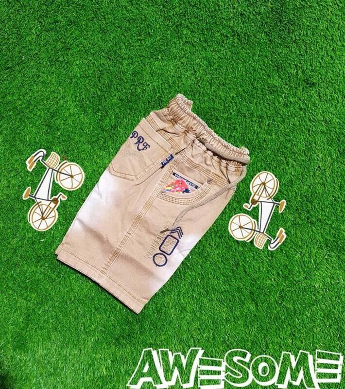 Stylish boys denim high-quality shorts