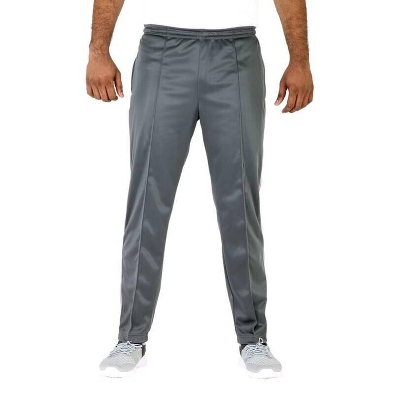 Stylish Polyester Blend Grey Track Pants For Men