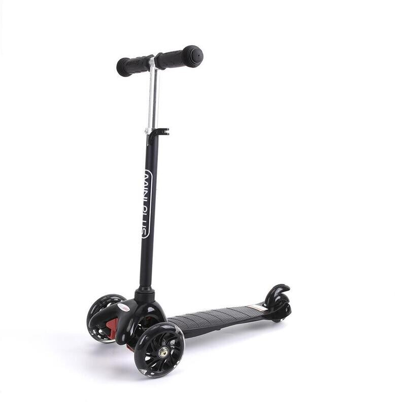 Mini Plus Matte Finished Scooter, Kick Scooter w/ Light-Up Wheels, Adjustable T-Bar, Foot Break, Mini, Suitable From 3–6 Years Old