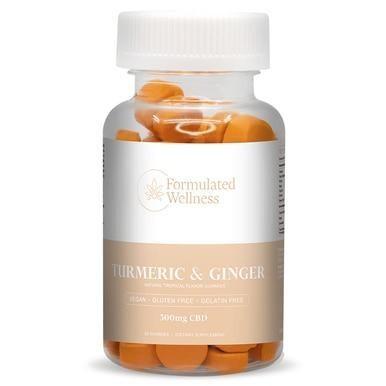 Formulated Wellness - CBD Edible - Gummies - Tumeric & Ginger - 5mg